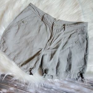 Calvin Klein linen shorts.